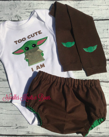 Baby Yoda Outfit, Baby Boys Star Wars Coming Home Outfit, Cosplay Outfit, Baby Boys Clothes