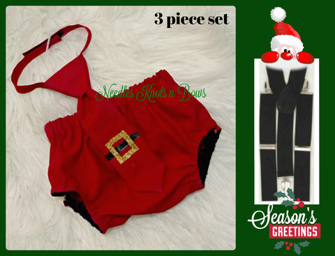 Boys  Christmas Cake Smash, Christmas Birthday, Baby Boys Santa Outfit