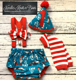 Boys Dr. Suess Cake Smash Outfit, Birthday Outfit