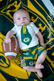 Boys Green Bay Packers Game Day Outfit, Baby Boys Coming Home Outfit, Football Outfit, Baby Shower Gift