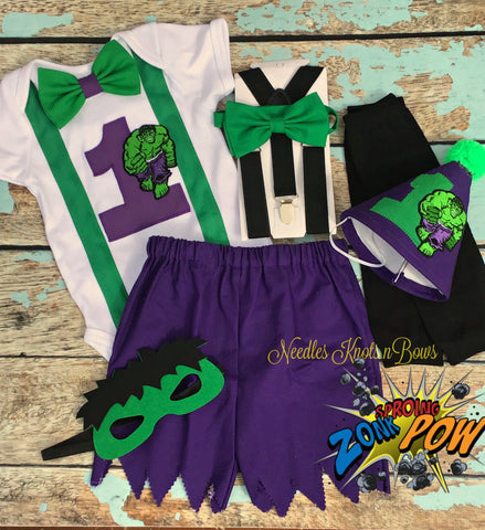 Boys Hulk Birthday Outfit, Hulk Cake Smash, Hulk Birthday Shirt, Hulk Birthday, Boys Superhero Birthday