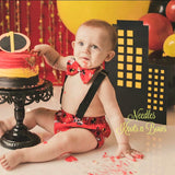 Boys The Incredibles Cake Smash, Incredibles Birthday, Boys 1st - 2nd Birthday Cake Smash Outfit