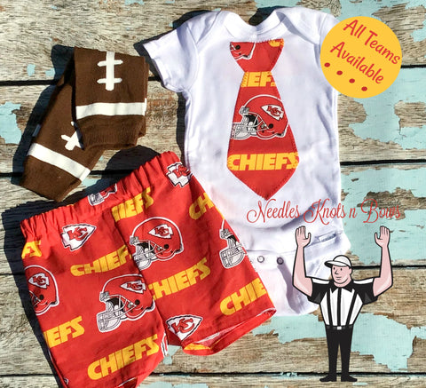 Boys Kansas City Chiefs Outfit, Baby Boys Chiefs Football Outfit, Boys Coming Home Outfit