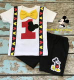 Boys Mickey Mouse Birthday Outfit, Boys 1st Birthday Outfit