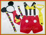 Matching Mickey Mouse cake smash outfit is also available on my website.