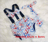 Boys Nautical Cake Smash, Anchors Cake Smash, Nautical Birthday, Boys 1st Birthday Outfit