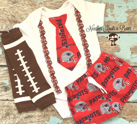 Boys New England Patriots Outfit, Baby Boys Patriots Coming Home Outfit, Boys Football Outfit