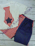Boys 4th of July Outfit,  Baby Boys Patriotic Outfit, Stars n Stripes, Memorial Day Outfit