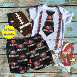 Boys San Francisco 49ers Outfit, Baby Boys 49ers Football Outfit, Boys Coming Home Outfit