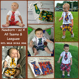 Boys Univeristy of Kansas Football Outfit, Baby Boys KU Jayhawks Game Day Outfit, College Football Outfit,