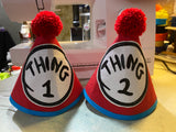 Twin Boys Cake Smash Set, Thing 1 & Thing 2 Cake Smash Set, Twin Boys Birthday, Thing 1 & Thing 2 Birthday