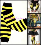 Black & Yellow Striped Leg Warmers,  Bumble Bee Leg Warmers, Boys, Girls, Babies, Toddlers