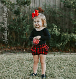 Girls Buffalo Plaid Bloomers, Baby Girls Bloomers, Newborns Clothes, Infants, Toddlers