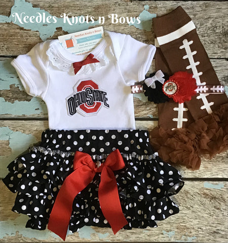 Girls Ohio State Buckeyes Outfit, Coming Home Outfit, College Football Outfit, Game Day