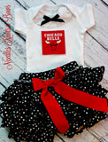 Chicago Bulls Girls Outfit, Baby Girls Bulls Basketball Game Day Outfit, Baby Girls Clothes