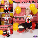 Boys 1st Birthday Outfit.  Mickey Mouse themed Birthday