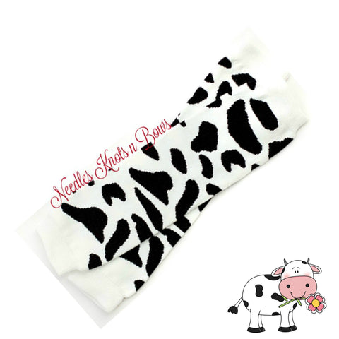 Cow Print Leg Warmers, Girls or Boys Cow Print Legwarmers, Baby Legwarmers, Toddlers Cowprint Leg Warmers
