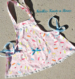 Girls Cupcake Apron, Kids Aprons, Toddlers, Girls Apron, Cupcake Apron, Child Apron, Gifts for Girls