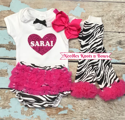 Girls Valentines Outfit, Girls Coming Home Outfit, Personalized Outfit, Baby Shower Gifts