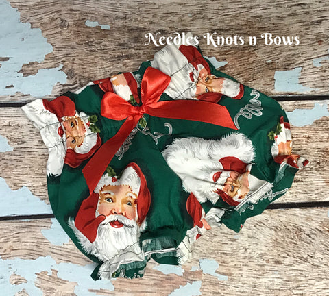 Girls Christmas Bloomers, Baby Girls Santa Bloomers, Newborns, Infants, Toddlers Clothes, Christmas Outfit