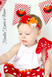 Elmo Headband, Girls Shabby Chic Elmo Headband, Baby Girls Accessories, Girls Birthday Headband