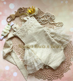 Girls Boho Cake Smash Romper, Girls Lace Boho Birthday Outfit, Girls 1st Birthday Outfit