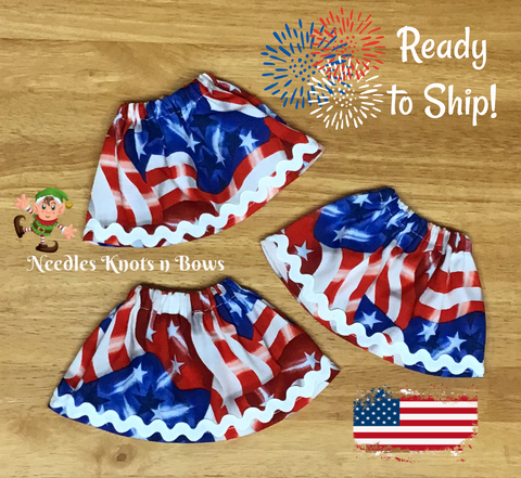Flag Print Elf Shelf Skirt, 4th of July Elf Skirt, Patriotic Elf Shelf Skirt, Christmas Elf Cloths