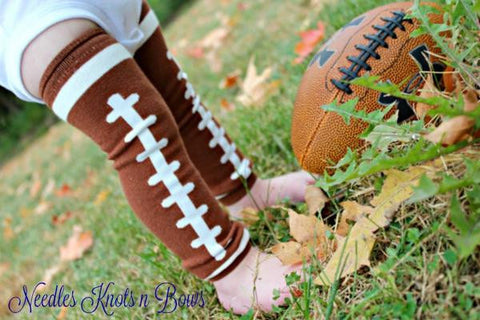 Football Leg Warmers & Team Headband Set, Girls Football Team Accessory Set, Football Leg Warmers