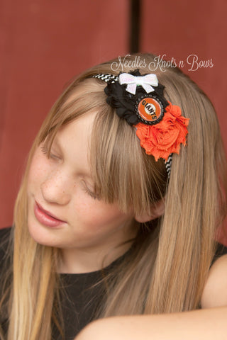 Girls San Francisco Giants Headband, Baseball Headband, Shabby Chic Giants Headband, Girls Accessories