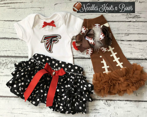 Girls Atlanta Falcons Outfit, Girls Falcons Football Outfit, Coming Home Outfit, Game Day
