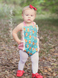 Girls Christmas Romper, Baby Girls Christmas Outfit, Gingerbread