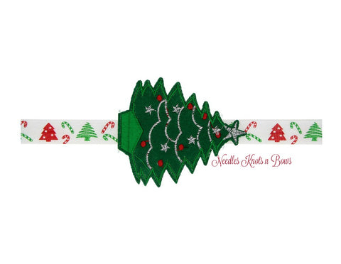 Christmas Headband, Girls Christmas Headband, Baby Girls Christmas Tree Headband