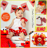 Girls Elmo Dress, Girls Elmo 1st Birthday Dress, Elmo Pillowcase Dress, Elmo Birthday