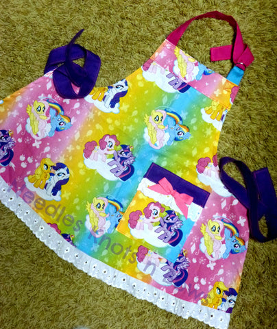 Girls My Little Pony Apron, Kids Apron, Cooking Apron, Childs Apron, Toddlers, Aprons