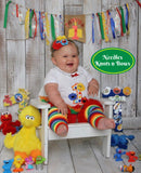 Girls Sesame Street Birthday Outfit, Girls Sesame Street 1st Birthday Outfit, Cake Smash Outfit