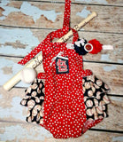 Girls Baseball Romper, Baseball Team Outfit, Baby Girls Coming Home Outfit, 1st Baseball Season