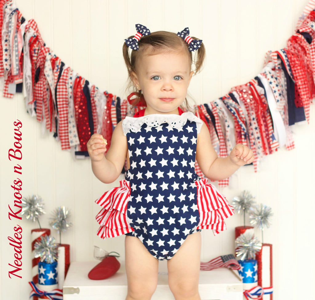 c9bb1b46521c Girls 4th of July Romper