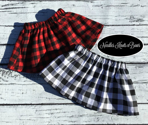 Girls Buffalo Plaid Skirt, You Choose, Baby Girls Skirt, Plaid Skirt, Toddlers, Skirts