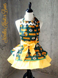 Greenbay Packers Apron, Mens / Womens Aprons, Packers Football Team Apron, Aprons