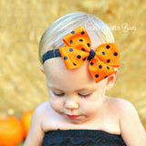 Girls Halloween Headband, Baby Girls Ribbon Bow Headband, Girls Hair Accessories
