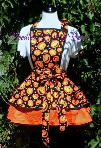 Womens Pumpkin Halloween Apron, Holy Pumpkins Halloween Apron, Fall Aprons, Aprons