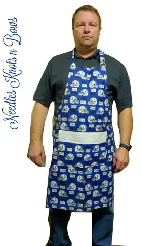 Indianapolis Colts Mens Apron, Colts Football Game Day Tailgating Apron, Aprons, Womens Aprons, Mens Aprons
