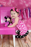 Girls First Birthday Dress, Minnie Mouse Birthday Dress, Minnie Mouse Dress