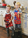 Paw Patrol Apron, Kids Apron, Childs Apron, Toddler Apron