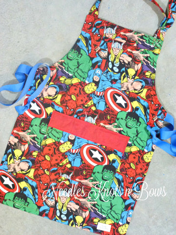 Avengers Kids Apron, Boys & Girls Apron, Superhero Apron, Aprons, Toddler Apron, Kids Cooking Apron