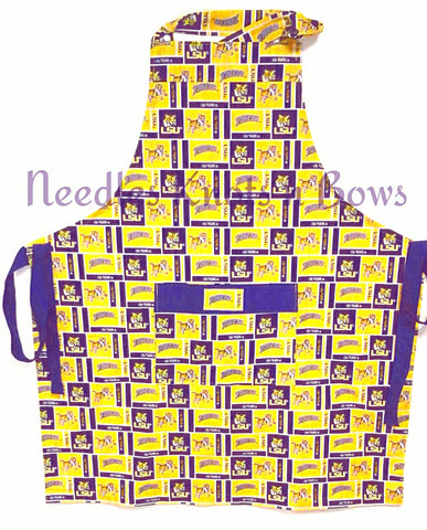 LSU Tigers Mens or Womens Apron, Louisiana State University Tigers Apron, Graduation Gift