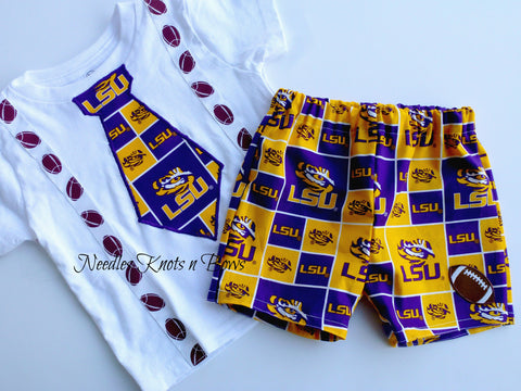Boys LSU Tigers Football Outfit, Baby Boys Louisiana State University Coming Home Outfit
