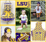 Girls LSU Tigers Football Outfit, Baby Girls Coming Home Outfit, Louisiana State University Outfit, Game Day