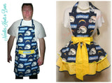 Los Angeles Chargers Womens Apron, Flirty Style, Football, Hostess Aprons