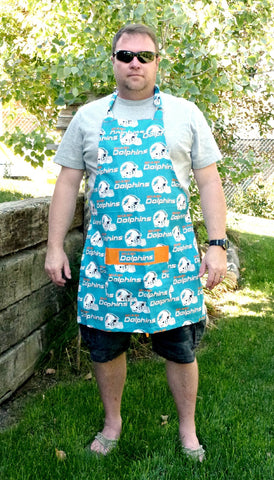Miami Dolphins Apron, Mens /  Womens Aprons, Dolphins Football Apron